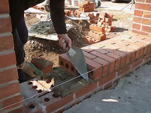 технология кладки стен из кирпича