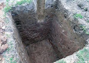копка столбчатого фундамента
