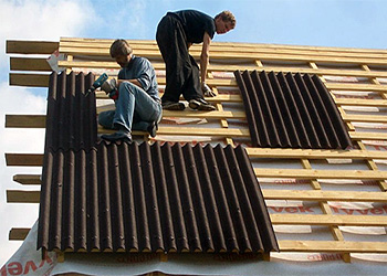 Покрытие крыши ондулином своими руками