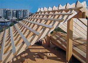 обрешетка стропильной системы двухскатной крыши