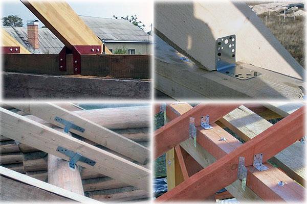 способы крепления стропил к мауэрлату двухскатной крыши