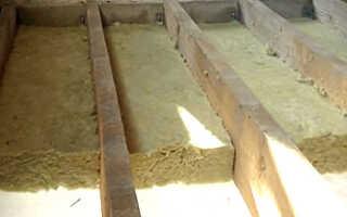 Как утеплить межэтажное  перекрытие по деревянным балкам