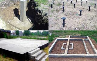 Основные виды фундаментов применяемые в строительстве частных домов, их характеристики, особенности строения и применения