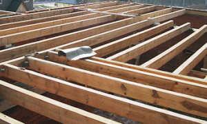 Как сделать деревянное перекрытие  между этажами в кирпичном доме