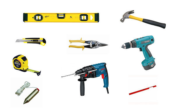 инструменты для работы с гипсокартоном