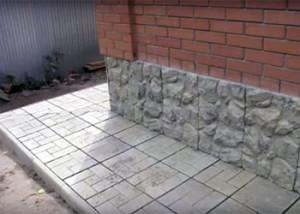 Вариант отмостки из тротуарной плитки
