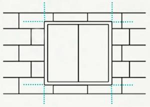 Схема по клейки пенопласта возле проемов