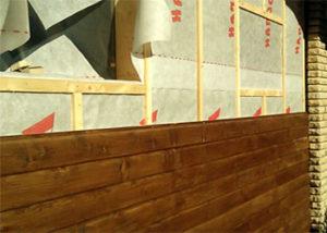 обшивка вагонкой стен дома