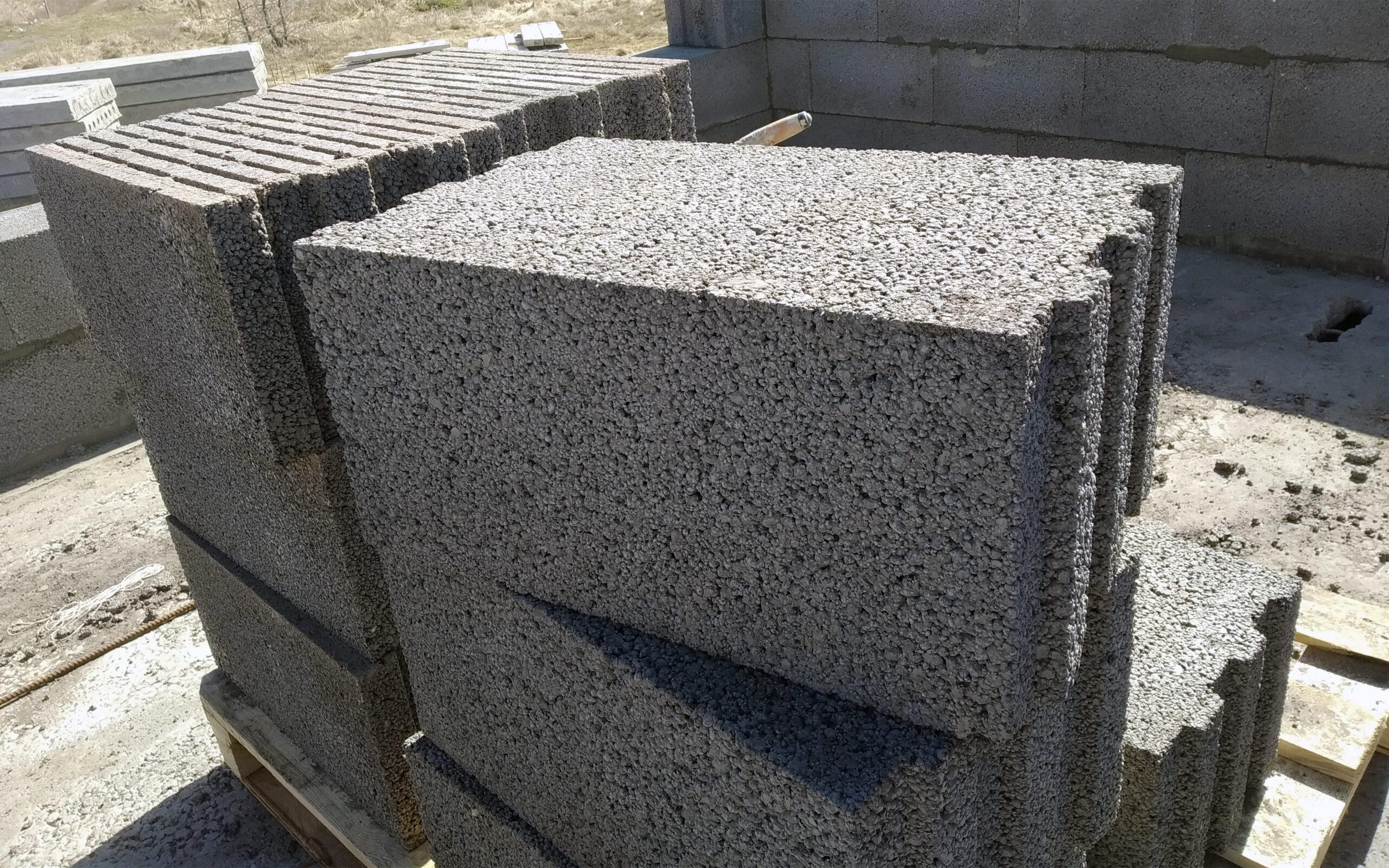 Керамзитобетонные блоки с пазами